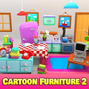 3d model cartoon furniture 2 toon