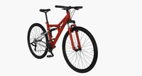 3d model of mountain bicycle