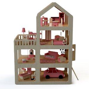 house doll dollhouse 3d max