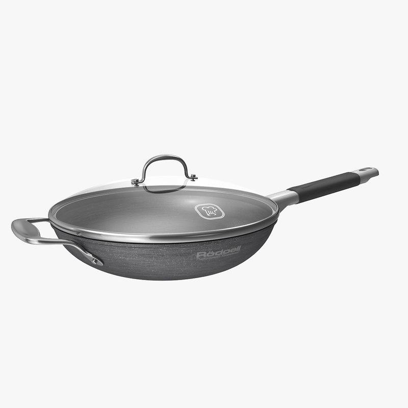 chefs pan handle 3d max