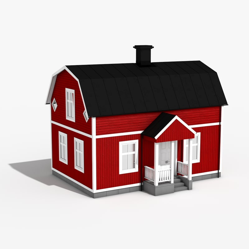 wooden 1900 house 3d model