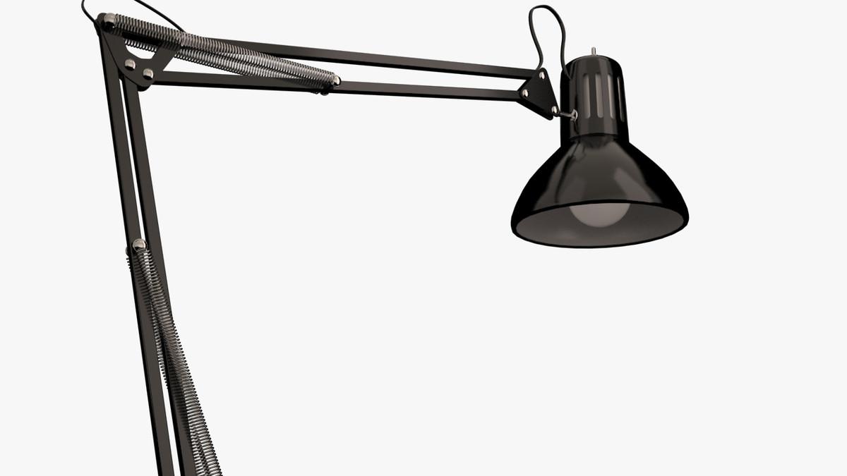3d model drafting lamp