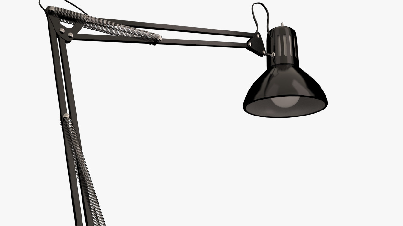 3d model drafting lamp