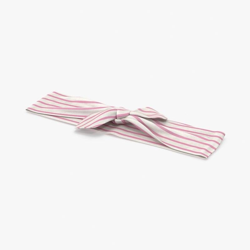 3d bow headband 02 pink