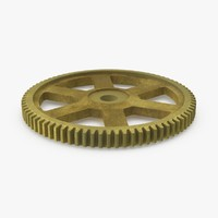 spur gear gold 3d model