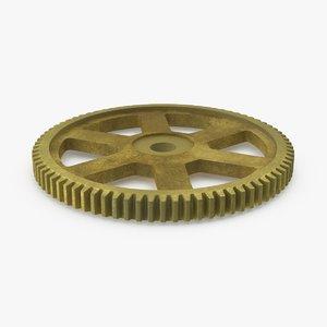 spur gear gold 3d model