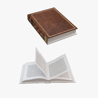 3d rigged book model