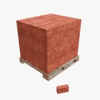 3d model pallet bricks
