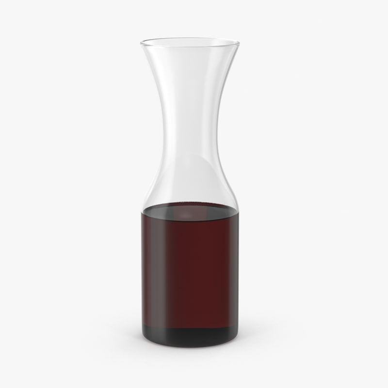 wine carafe red 3d model