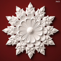 (621) Decor Element Rosette -3d STL model for CNC