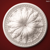 3ds decor element rosette stl