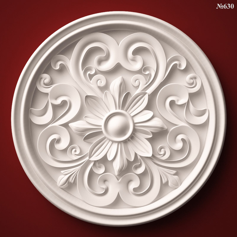 3d decor element rosette stl model