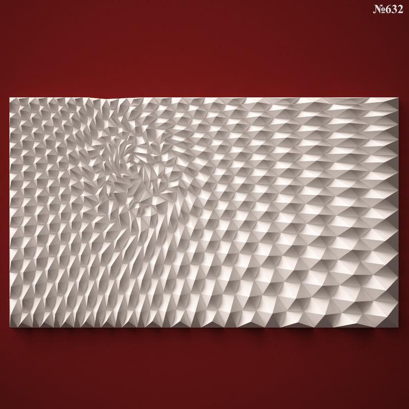 wall panel stl cnc 3d 3ds