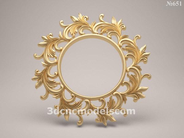 mirror frame stl cnc 3d 3ds
