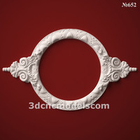 (652) Mirror Frame -3d STL model for CNC