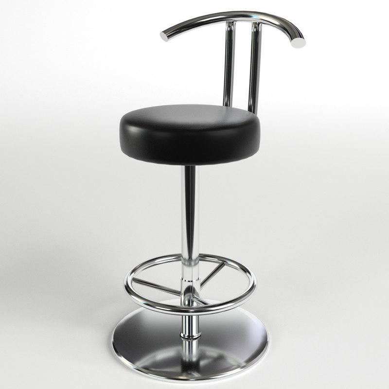 bar stool 1 3d max