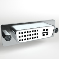 dvi panel mount connector 3d 3ds