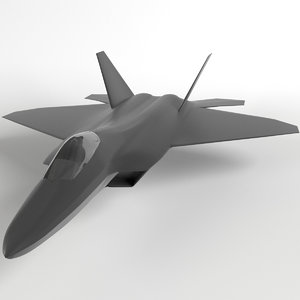 f-22 raptor mesh base 3d model