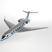 Gulfstream G650 business jet (PBR, uv-textured)