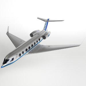 3d g650 business jet pbr model