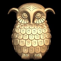 3d owl stl cnc