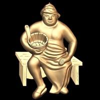 3d bas sauna stl cnc