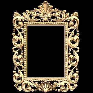 mirror frame stl cnc 3d model