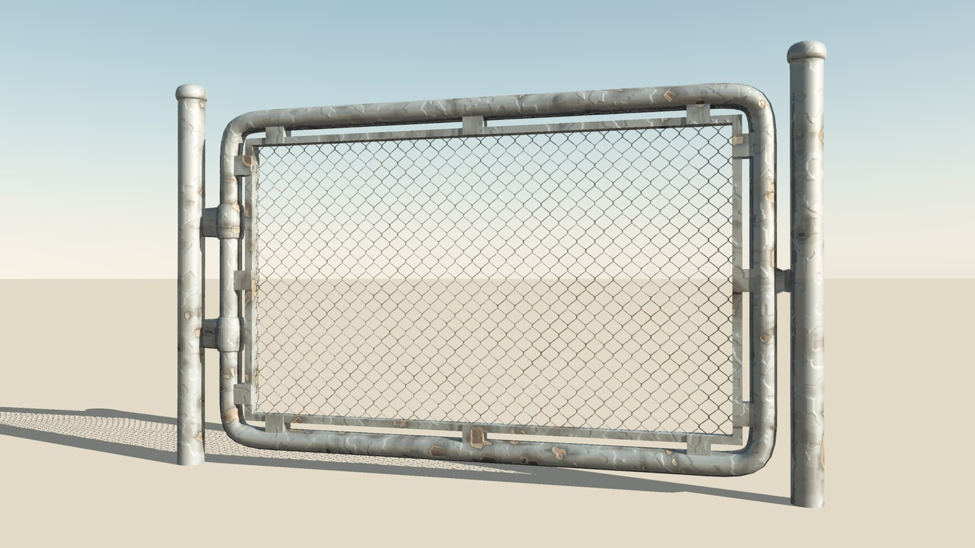 industrial gate 3d obj