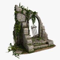 3d model arc stone