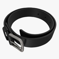 realistic belt black 3d 3ds