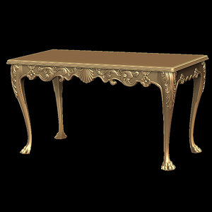 irish table stl cnc 3d 3ds
