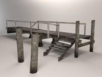 wooden pier 3d max