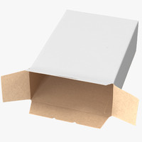 cereal box open 3d model