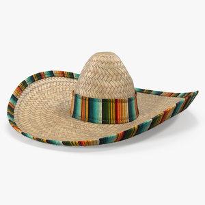 straw sombrero fur color 3d max