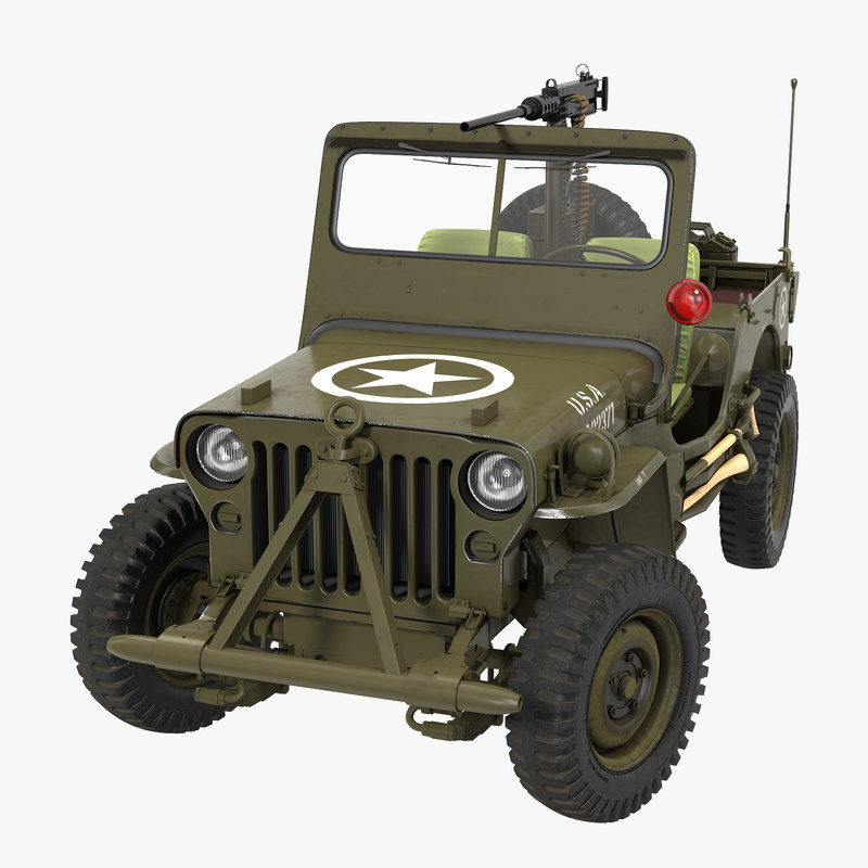 max army jeep willys rigged
