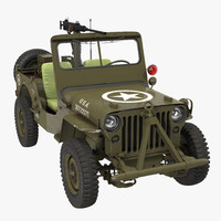 US Army Jeep Willys MB 3D Model