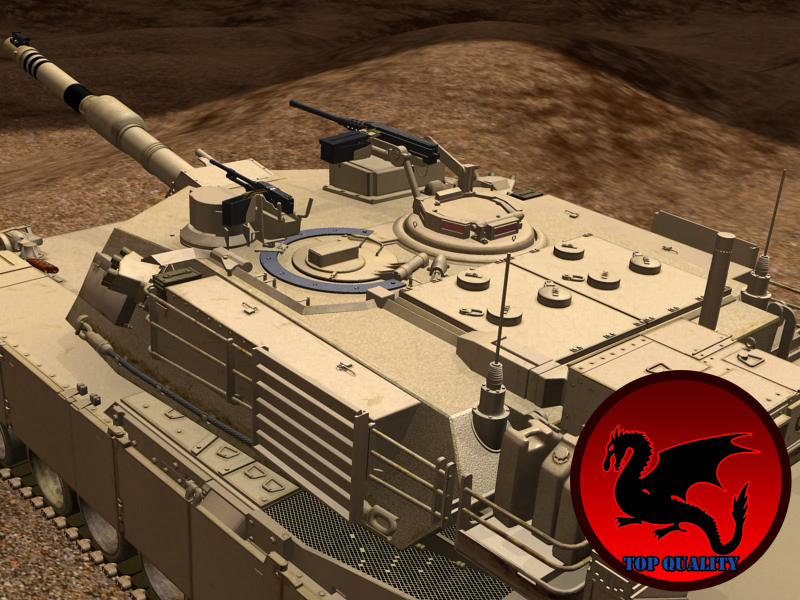 3dsmax m1 abrams rigged extra