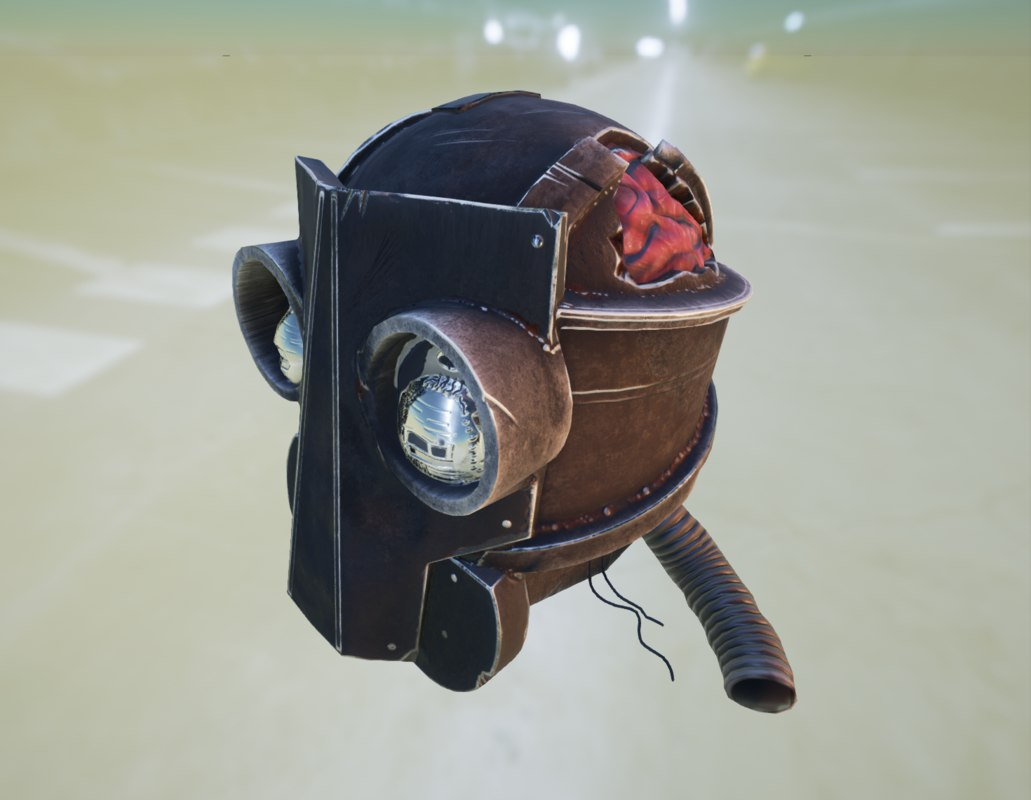 prop robot head ue4 max