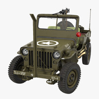 3d jeep willys rigged