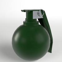 3d model m67 fragmentation hand grenade