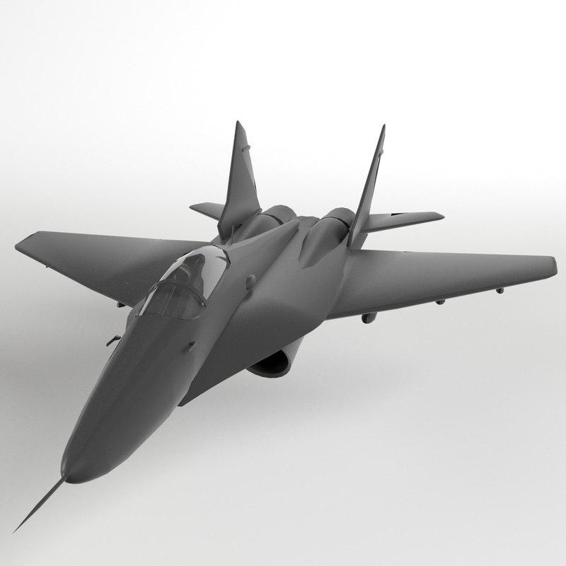 mig-29 fulcrum mig 29 3d model