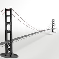 suspension bridge 3d max