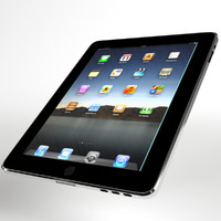 Tablet (generic, perfect for ads!) 3D Model (UV unwrapped, textured)