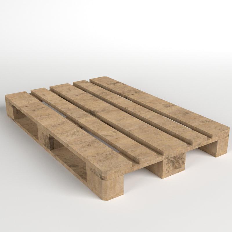 3ds wooden euro pallet skid