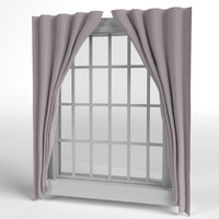 window frame curtains 3d max