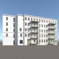 residental facade 3d max
