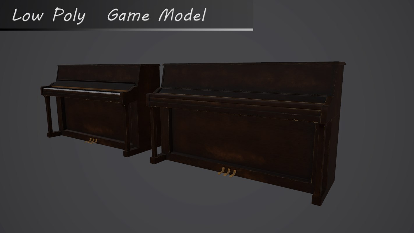 3d old piano model