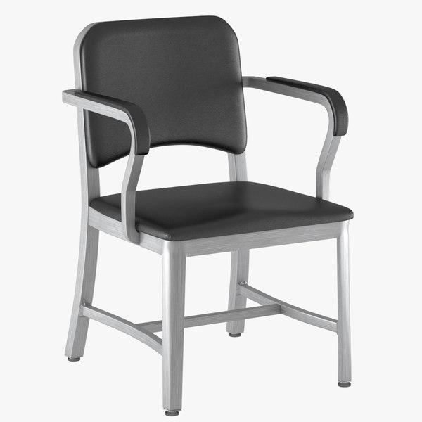 3d model armchair navy