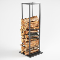 Vertical Stack Of Firewood