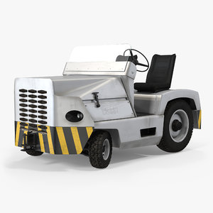 airport tug car clark 3d model